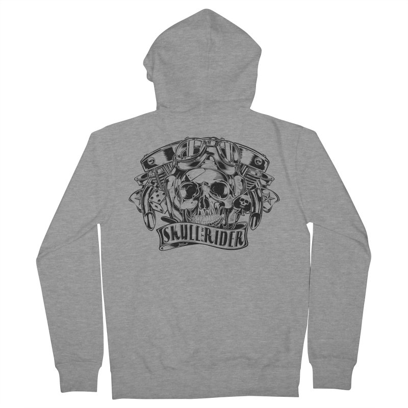 SKULL RIDER Men's French Terry Zip-Up Hoody by Copyright  David Vicente © 2016  -  All rights res