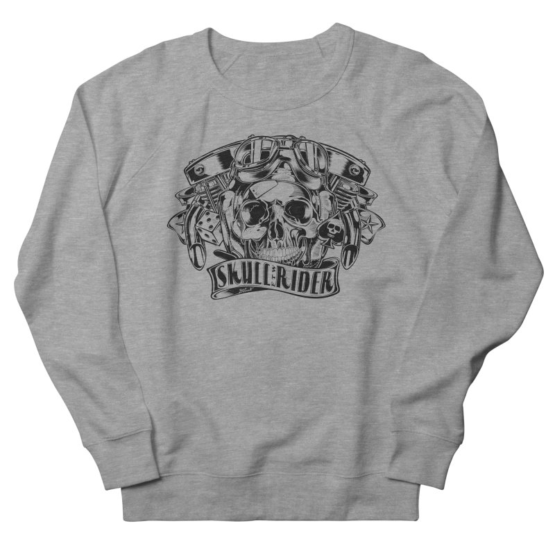 SKULL RIDER Men's French Terry Sweatshirt by Copyright  David Vicente © 2016  -  All rights res