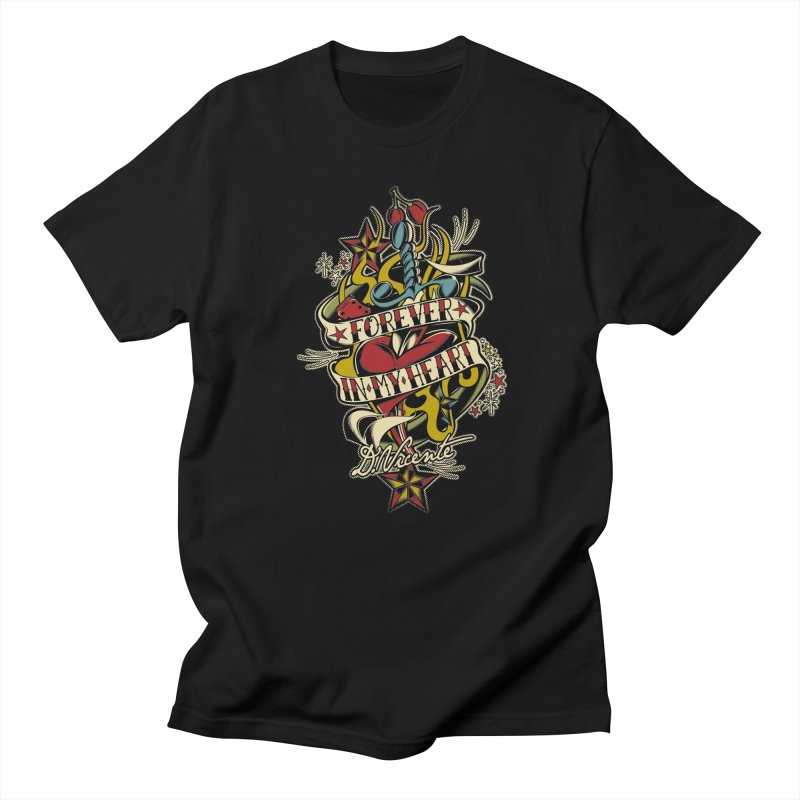 FOREVER IN MY HEART Men's T-Shirt by Copyright  David Vicente © 2016  -  All rights res