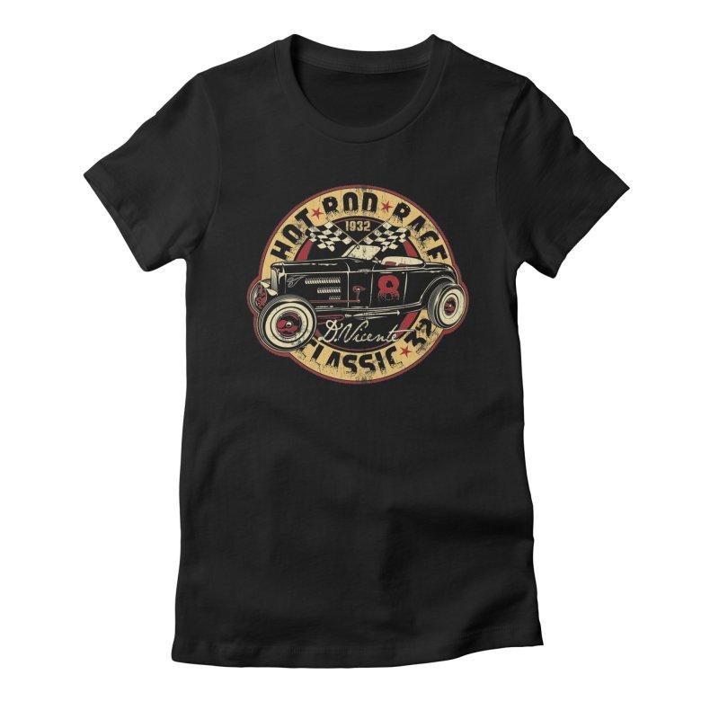 HOT ROD RACE CLASSIC 32 Women's T-Shirt by Copyright  David Vicente © 2020