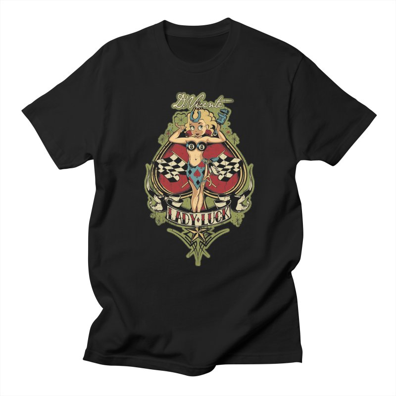 LADY LUCK Men's Regular T-Shirt by Copyright  David Vicente © 2019