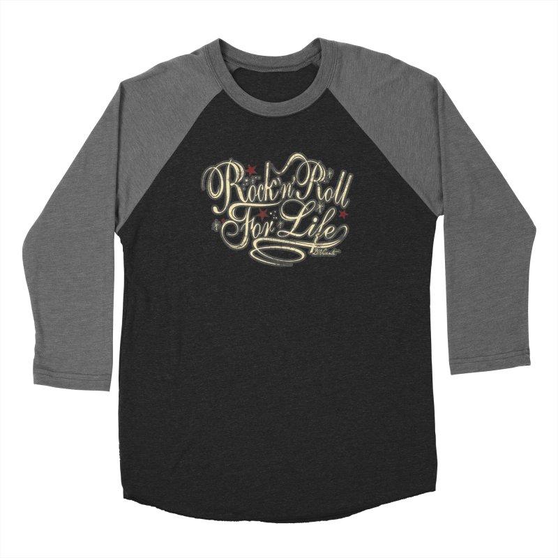 ROCK'N'ROLL FOR LIFE Men's Baseball Triblend Longsleeve T-Shirt by Copyright  David Vicente © 2019
