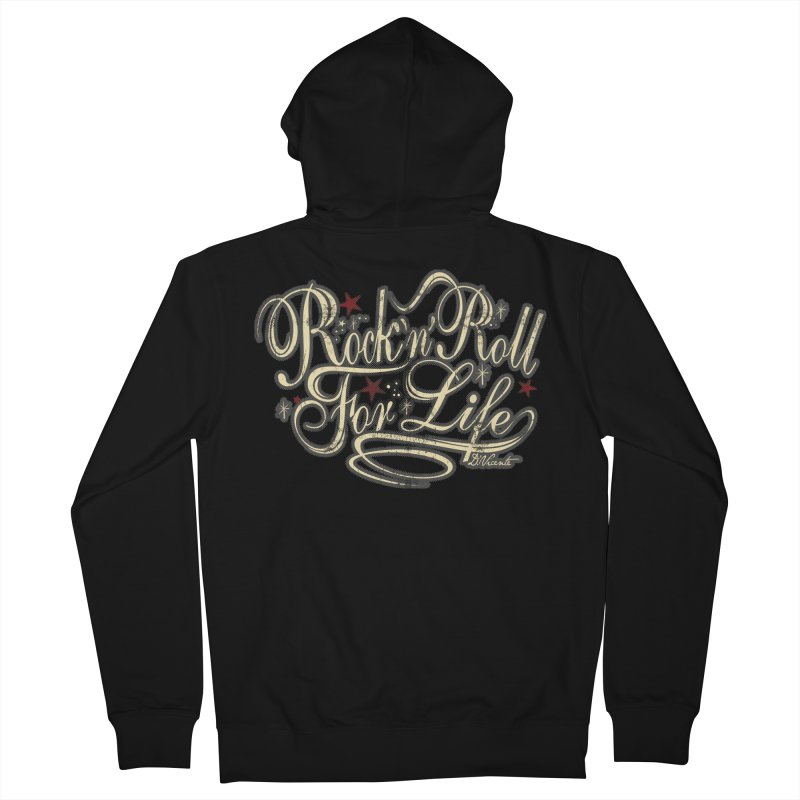 ROCK'N'ROLL FOR LIFE Women's Zip-Up Hoody by Copyright  David Vicente © 2016  -  All rights res