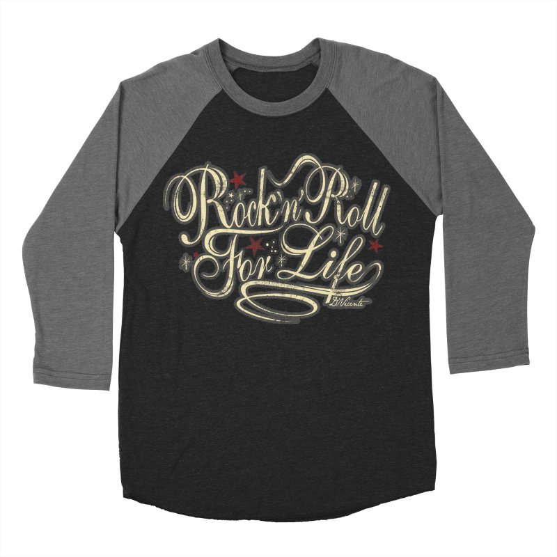 ROCK'N'ROLL FOR LIFE Men's Baseball Triblend T-Shirt by Copyright  David Vicente © 2016  -  All rights res