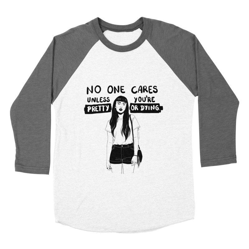 No One Cares Men's Baseball Triblend T-Shirt by DVRKSHINES SHIRTS