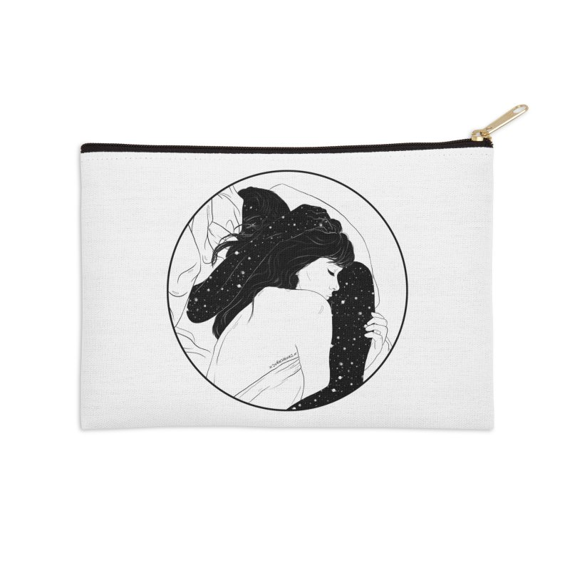 Galaxy Lovers Accessories Zip Pouch by DVRKSHINES SHIRTS