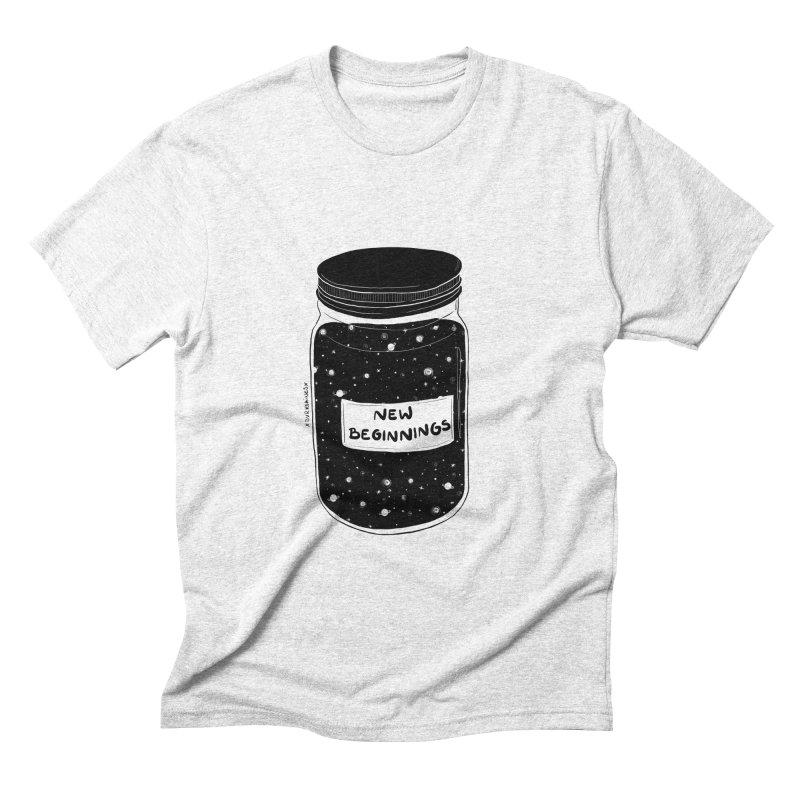 New Beginnings Men's Triblend T-shirt by DVRKSHINES SHIRTS