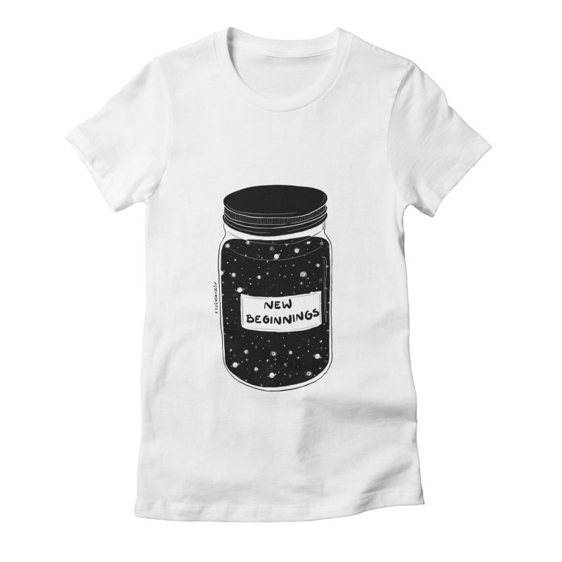 New Beginnings Women's Fitted T-Shirt by DVRKSHINES SHIRTS