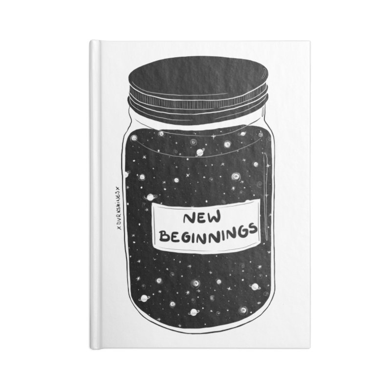 New Beginnings Accessories Notebook by DVRKSHINES SHIRTS