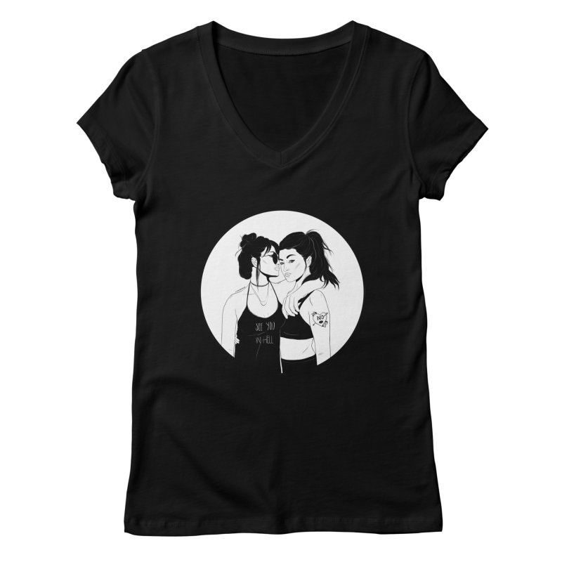 See You In Hell Women's V-Neck by DVRKSHINES SHIRTS