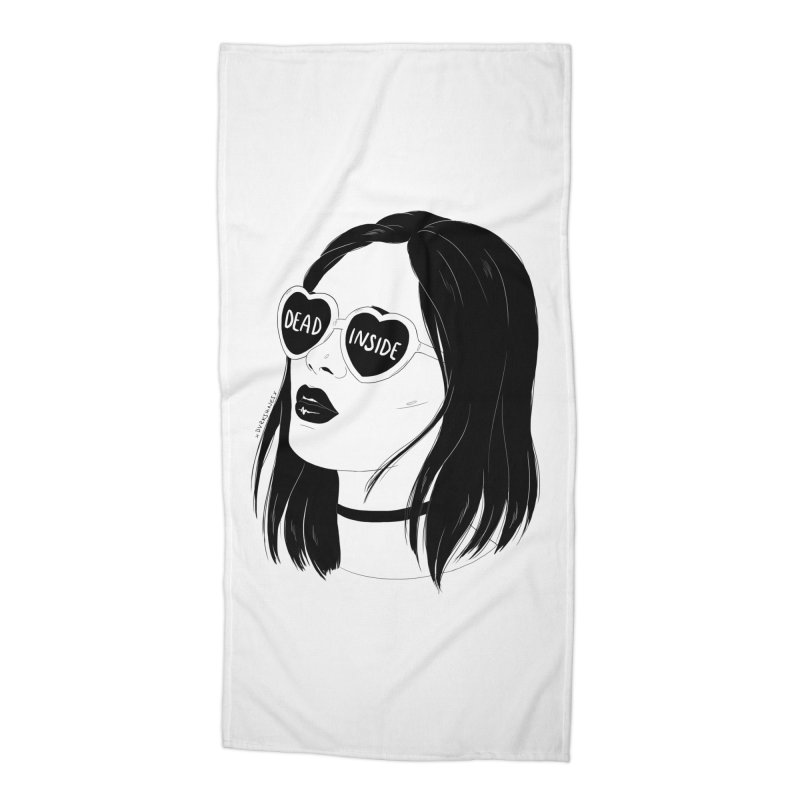 Dead Inside Accessories Beach Towel by DVRKSHINES SHIRTS