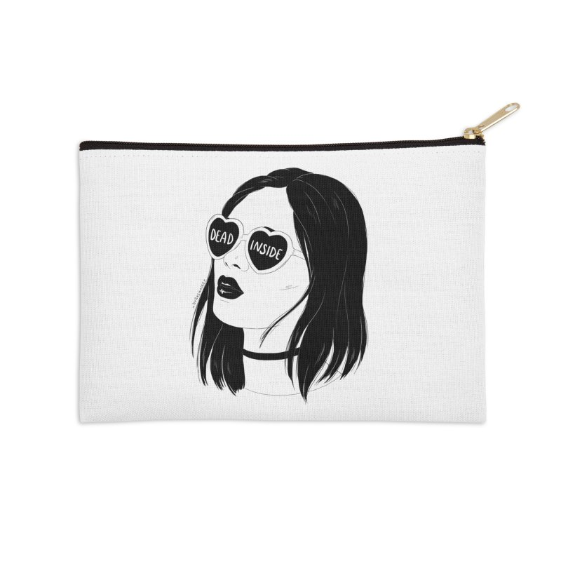 Dead Inside Accessories Zip Pouch by DVRKSHINES SHIRTS
