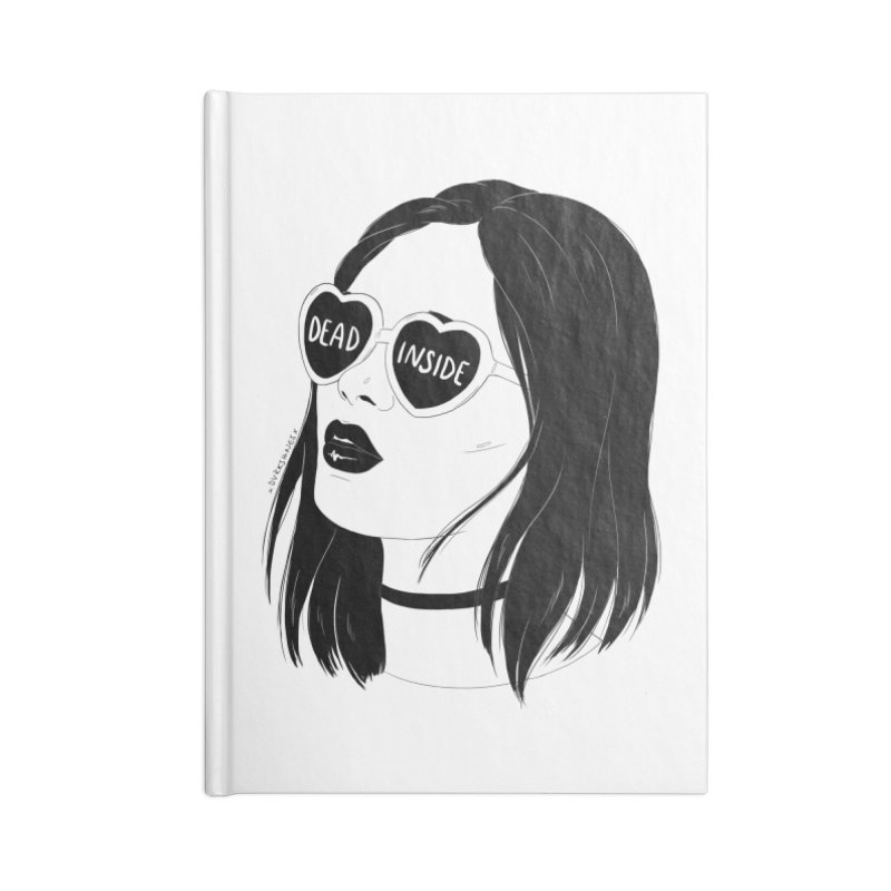 Dead Inside Accessories Notebook by DVRKSHINES SHIRTS