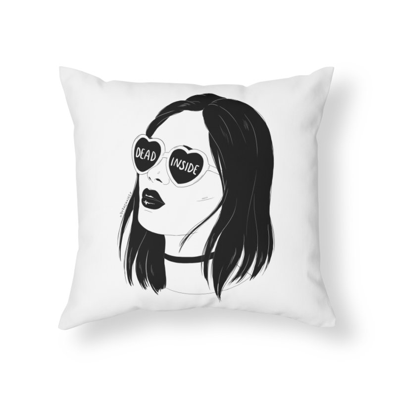 Dead Inside Home Throw Pillow by DVRKSHINES SHIRTS
