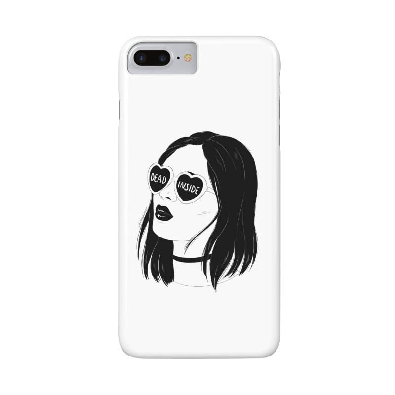 Dead Inside Accessories Phone Case by DVRKSHINES SHIRTS