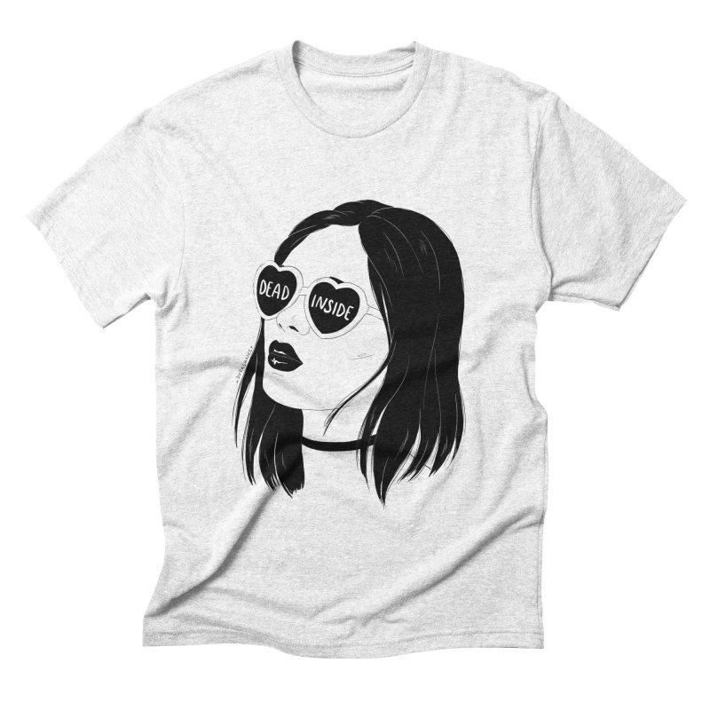 Dead Inside Men's Triblend T-shirt by DVRKSHINES SHIRTS
