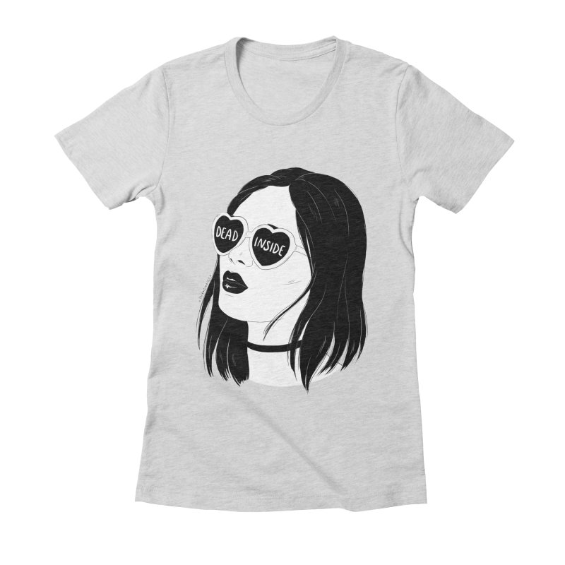 Dead Inside Women's Fitted T-Shirt by DVRKSHINES SHIRTS