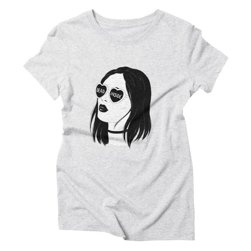 Dead Inside Women's Triblend T-Shirt by DVRKSHINES SHIRTS