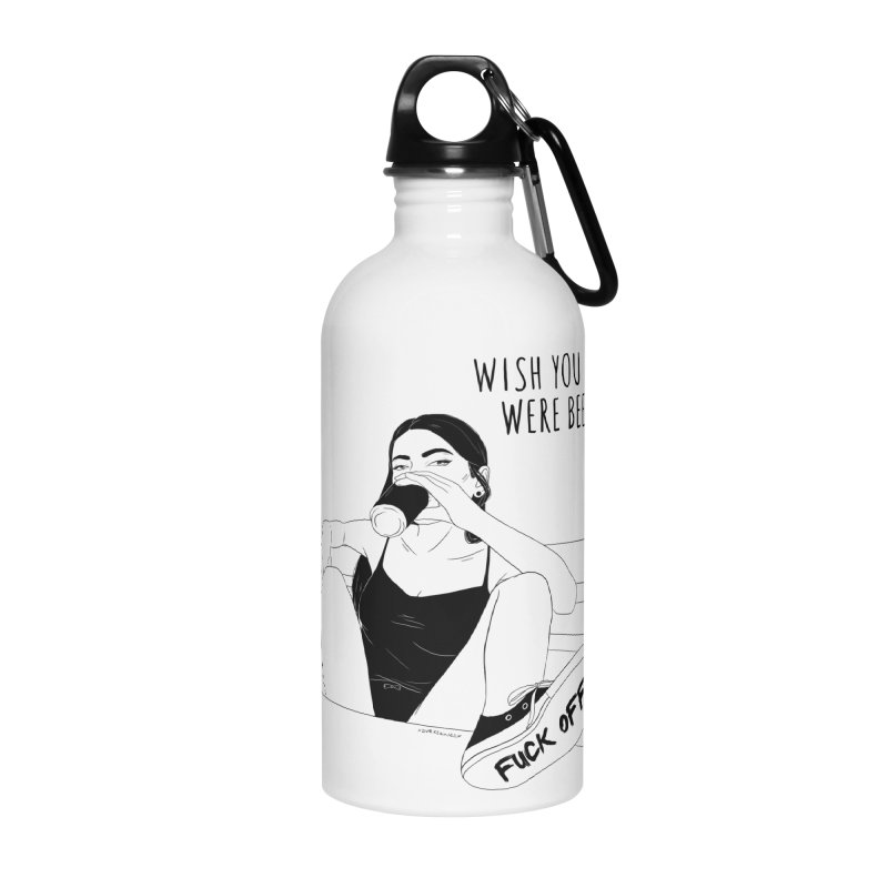 Wish You Were Beer Accessories Water Bottle by DVRKSHINES SHIRTS