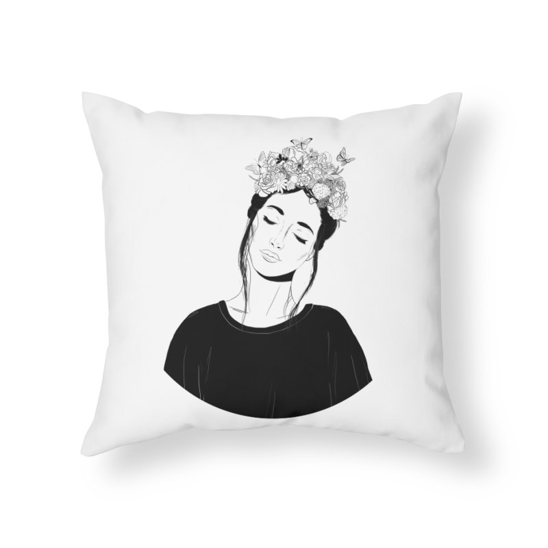 Daydreaming Home Throw Pillow by DVRKSHINES SHIRTS