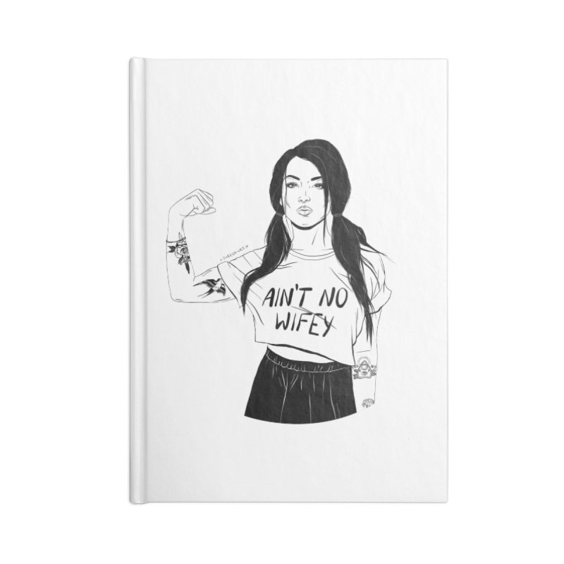 No Wifey Accessories Notebook by DVRKSHINES SHIRTS