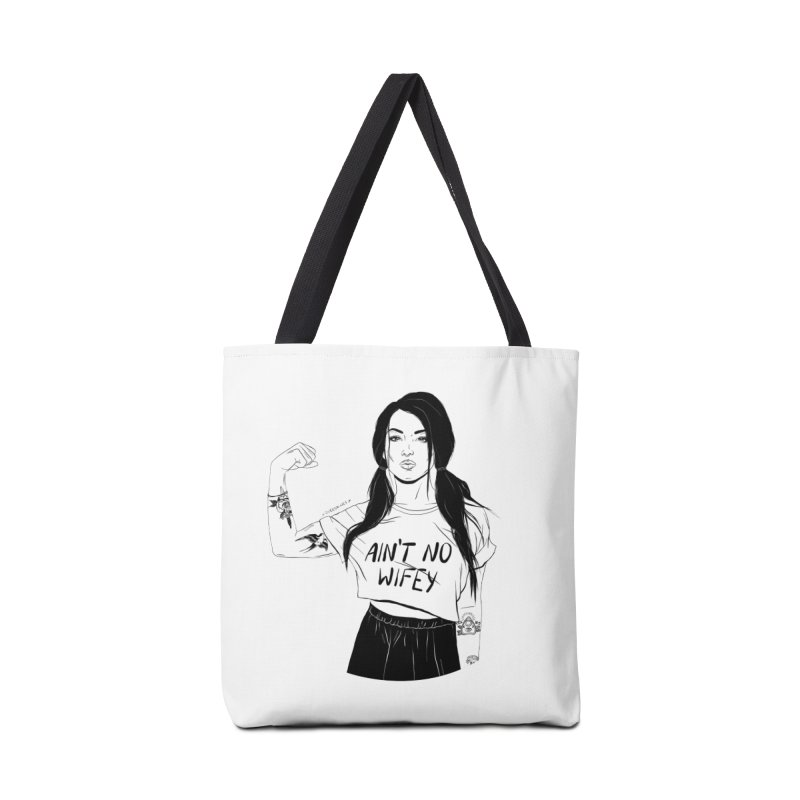 No Wifey Accessories Bag by DVRKSHINES SHIRTS