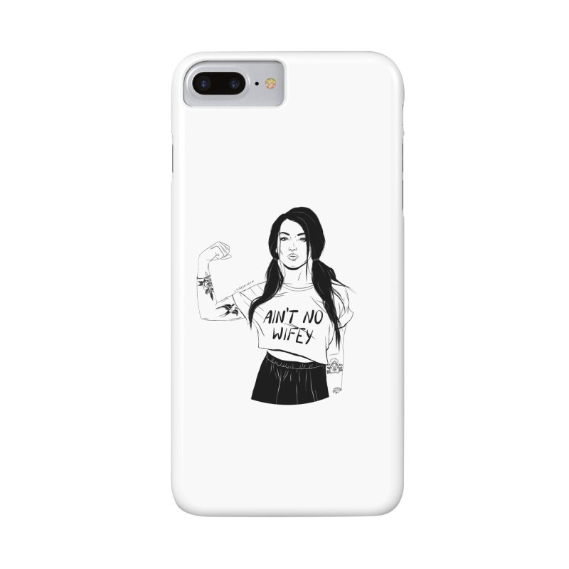 No Wifey Accessories Phone Case by DVRKSHINES SHIRTS
