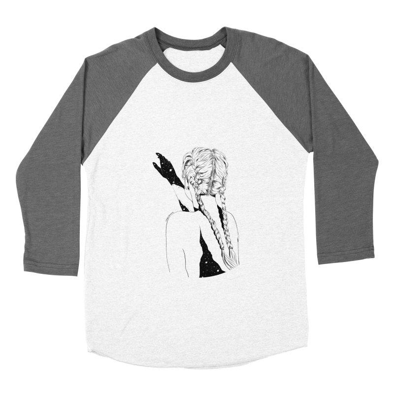 Galaxy Girl Women's Baseball Triblend T-Shirt by DVRKSHINES SHIRTS
