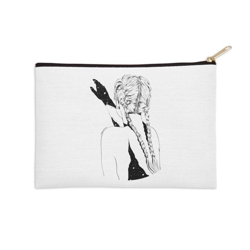 Galaxy Girl Accessories Zip Pouch by DVRKSHINES SHIRTS