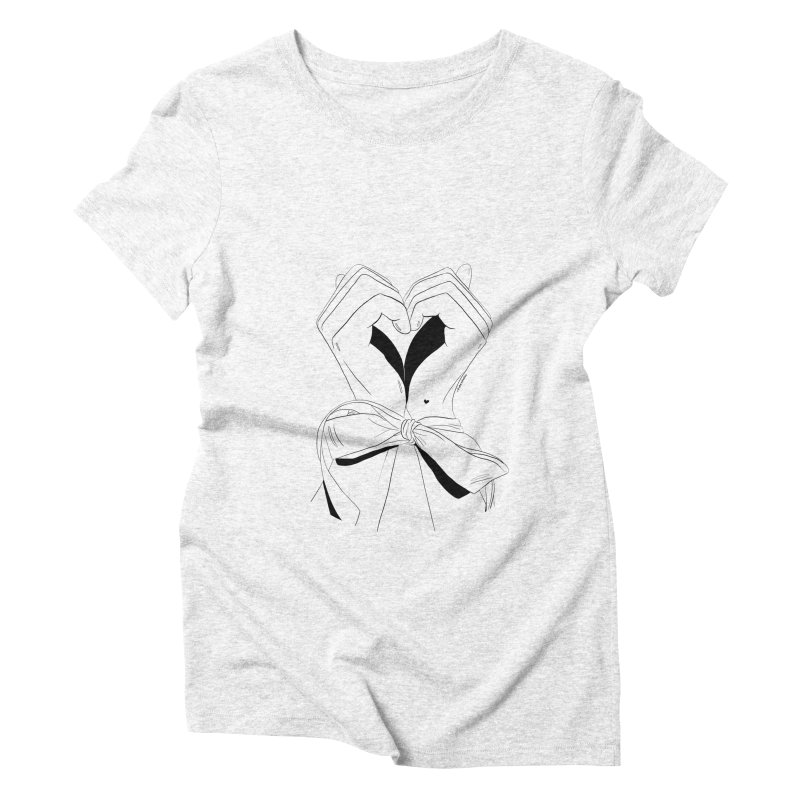 Tied Up Women's Triblend T-shirt by DVRKSHINES SHIRTS
