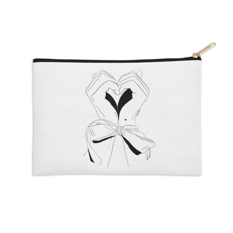 Tied Up Accessories Zip Pouch by DVRKSHINES SHIRTS