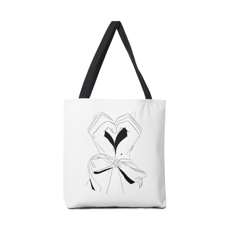 Tied Up Accessories Bag by DVRKSHINES SHIRTS
