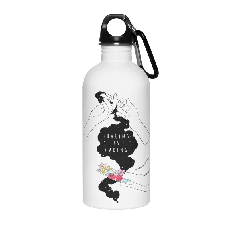 Sharing Is Caring Accessories Water Bottle by DVRKSHINES SHIRTS