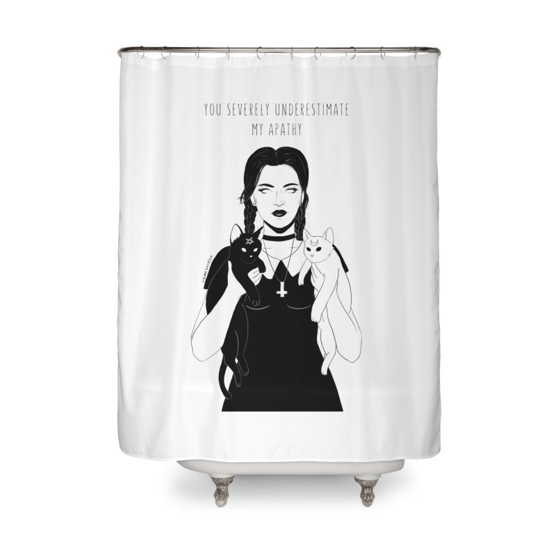 Wednesday Home Shower Curtain by DVRKSHINES SHIRTS