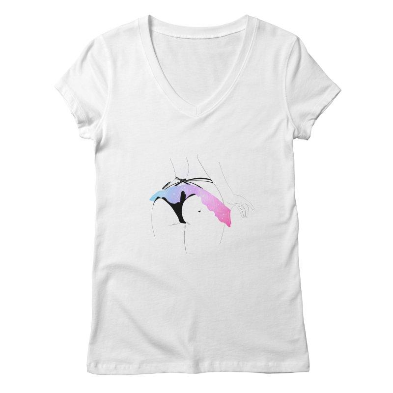 Galaxy Panties Women's V-Neck by DVRKSHINES SHIRTS