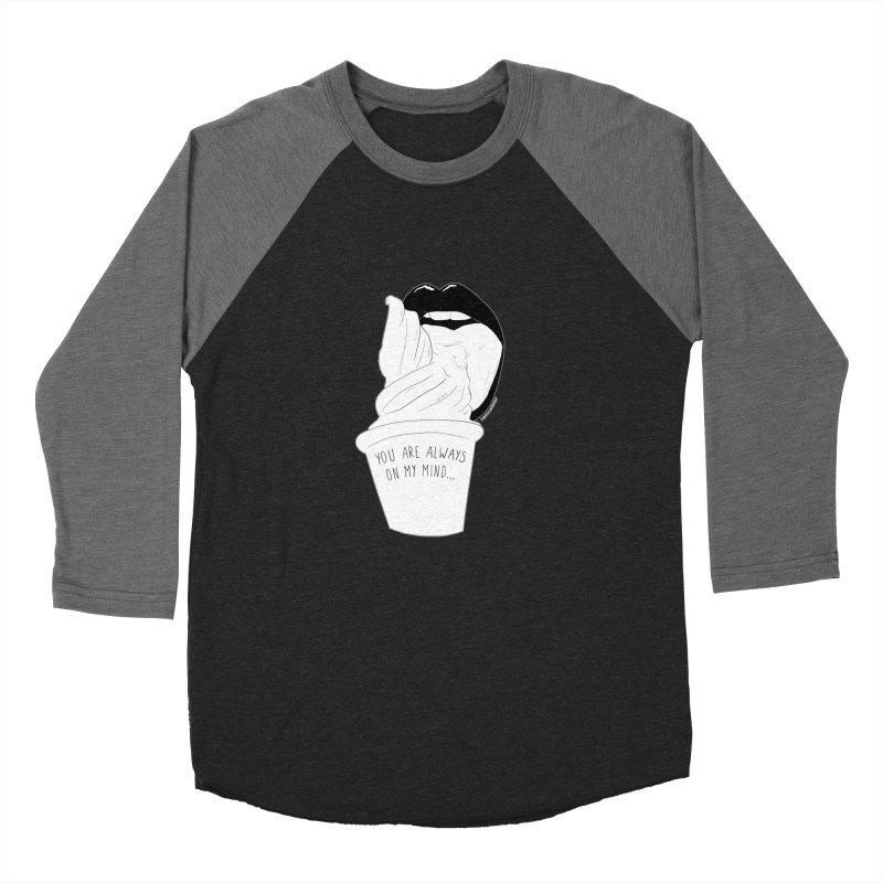Ice Cream Men's Baseball Triblend T-Shirt by DVRKSHINES SHIRTS