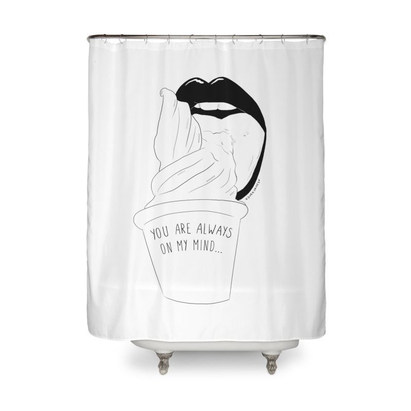 Ice Cream Home Shower Curtain by DVRKSHINES SHIRTS