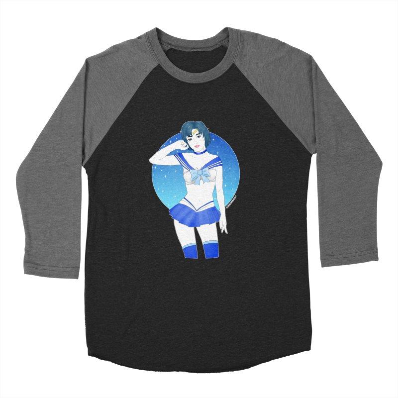 Sailor Mercury Men's Baseball Triblend T-Shirt by DVRKSHINES SHIRTS