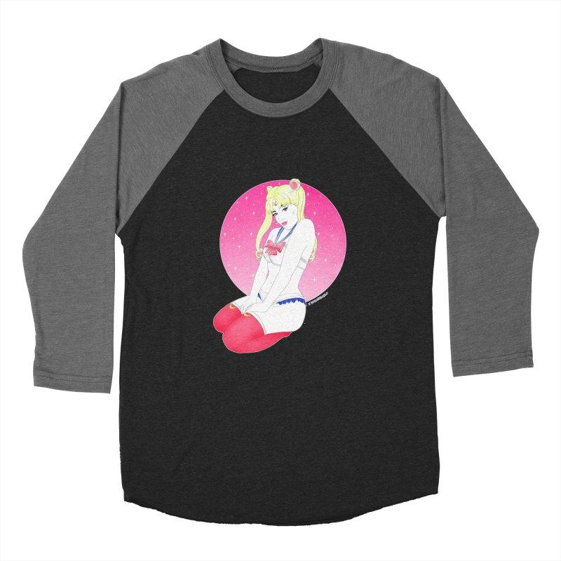 Sailor Moon Men's Baseball Triblend T-Shirt by DVRKSHINES SHIRTS