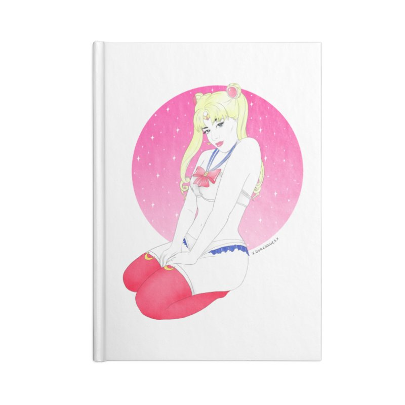 Sailor Moon Accessories Notebook by DVRKSHINES SHIRTS