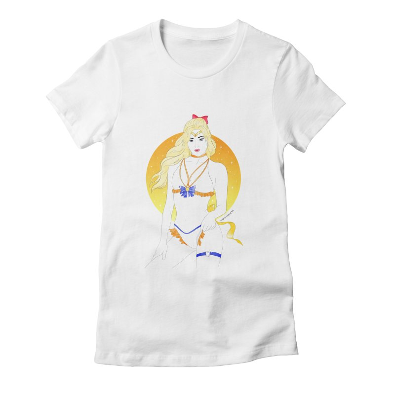 Sailor Venus Women's Fitted T-Shirt by DVRKSHINES SHIRTS