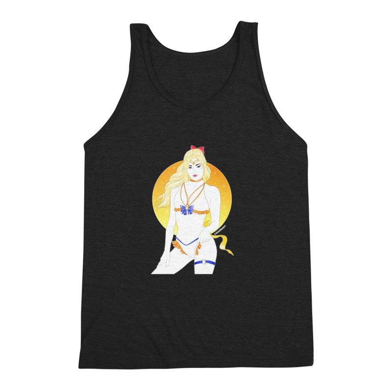 Sailor Venus Men's Triblend Tank by DVRKSHINES SHIRTS