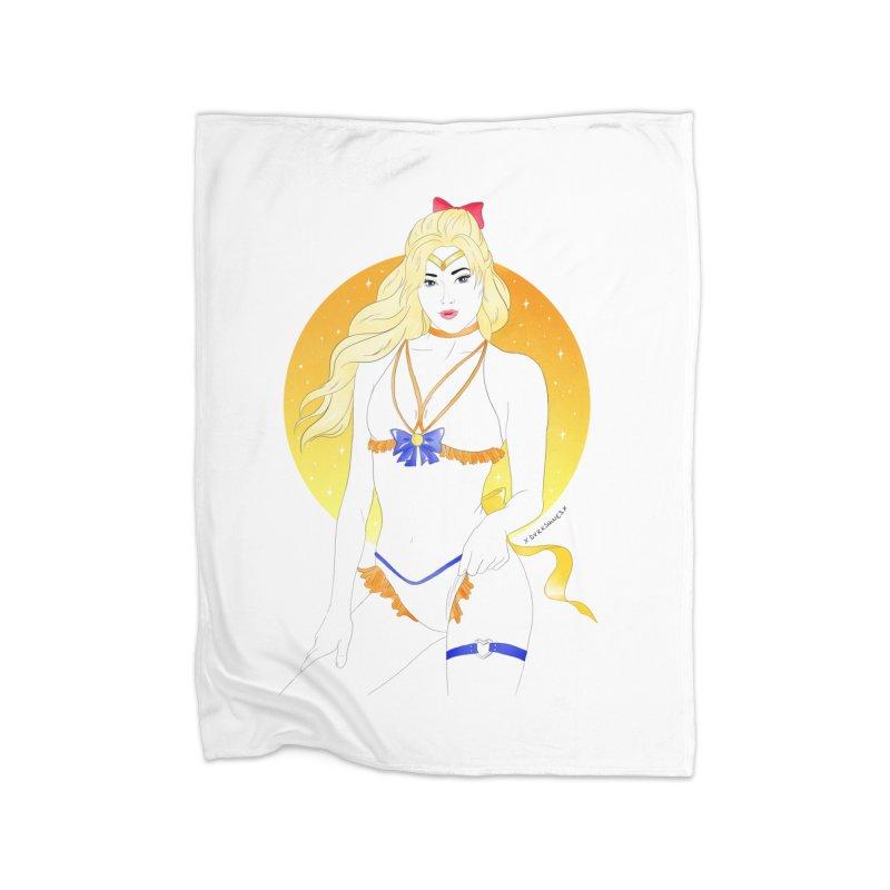 Sailor Venus Home Blanket by DVRKSHINES SHIRTS