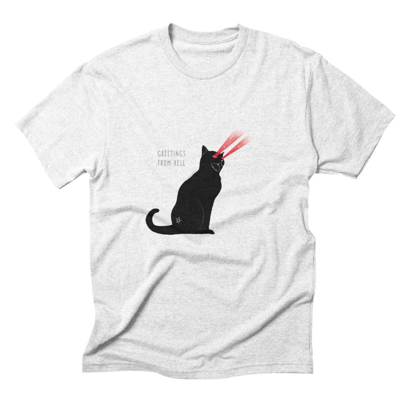 Greetings From Hell Men's Triblend T-shirt by DVRKSHINES SHIRTS