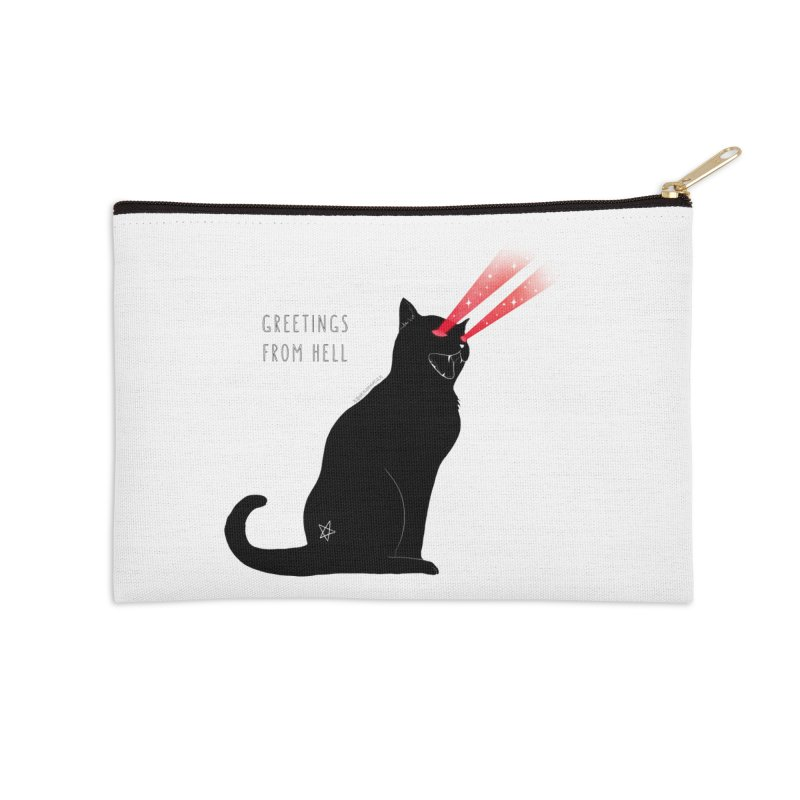 Greetings From Hell Accessories Zip Pouch by DVRKSHINES SHIRTS