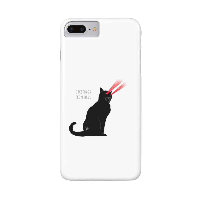 Greetings From Hell Accessories Phone Case by DVRKSHINES SHIRTS