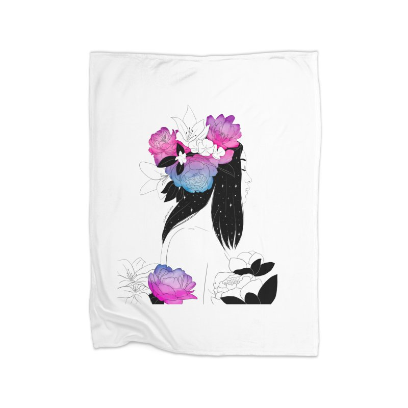 Floral Home Blanket by DVRKSHINES SHIRTS