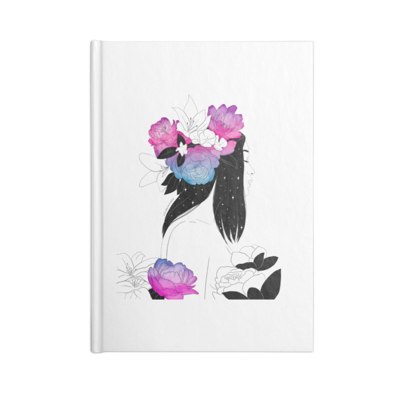 Floral Accessories Notebook by DVRKSHINES SHIRTS