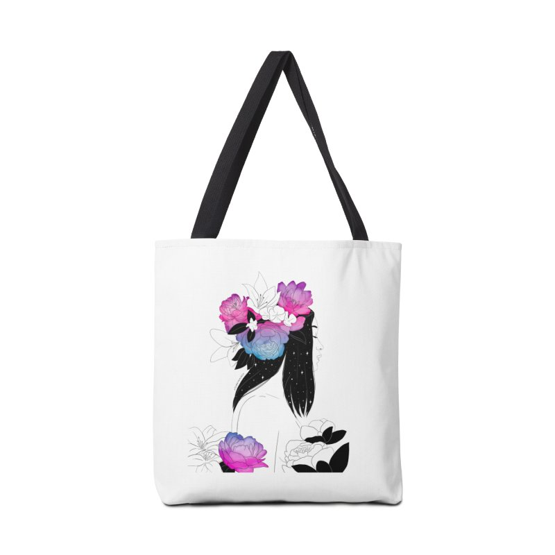 Floral Accessories Bag by DVRKSHINES SHIRTS