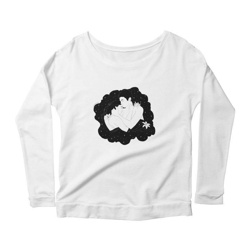 Galaxy Cloud Women's Longsleeve Scoopneck  by DVRKSHINES SHIRTS